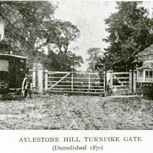 Aylestone Hill turnpike gate, c 1870