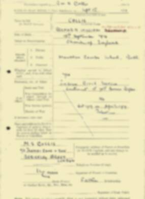 RMC Form 18A Personal Detail Sheets Feb & Sept 1933 Intake - page 177