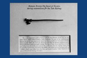 Morden Underground excavation:  Roman Bronze pin