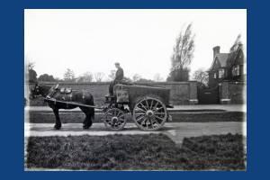 Council dustcart, Westside, Wimbledon Common