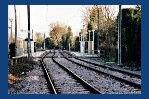 Tramlink section near Dundonald Road stop