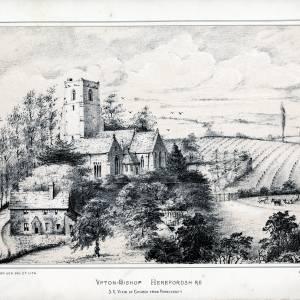 Upton Bishop Church, Herefordshire, print 1882