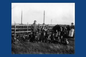 Gypsy families on Mitcham Common during Mitcham Fair
