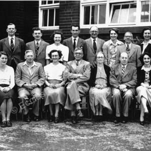 High Green Secondary Modern School staff, 1948