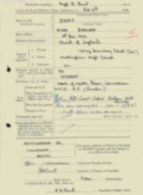 RMC Form 18A Personal Detail Sheets Feb & Sept 1933 Intake - page 39