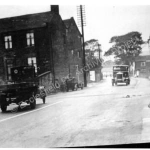 Ecclesfield Village, Lorry passing the Corn Mill House, corner of Mill Road