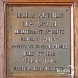 Memorial Plaque - Lea-Smith