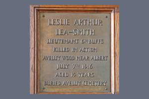 Memorial Plaque - Lea-Smith