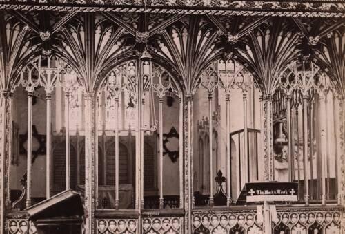 Interior of Harberton Church, c1900, Harberton