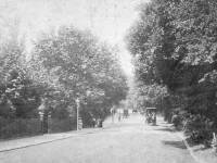Wimbledon Hill Road, looking up hill towards Wimbledon Village.