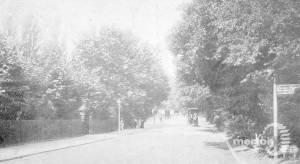 Wimbledon Hill Road, looking up hill towards Wimbledon Village.