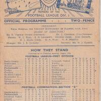 19480828 Official Programme Burnley Home