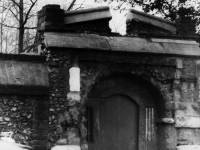 Surviving portion of wall and gateway, Merton Priory, Station Road, Colliers Wood