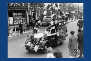 Coronation Celebrations: Procession down London Road, Mitcham
