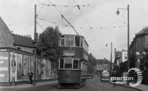 A Wimbledon Tram on Merton Road