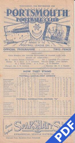 19480915 Official Programme Cardiff City Home FC