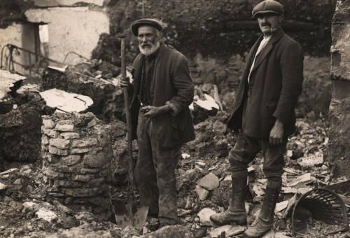 Mr Odam outside Broadmoor Farmhouse, c1930, Bishops Tawton