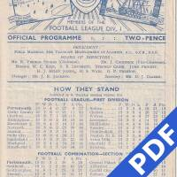 19481023 Official Programme Arsenal Home FC