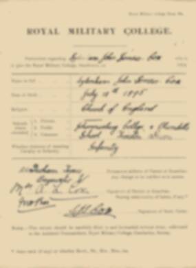 RMC Form 18A Personal Detail Sheets Jan 1915 Intake - page 90
