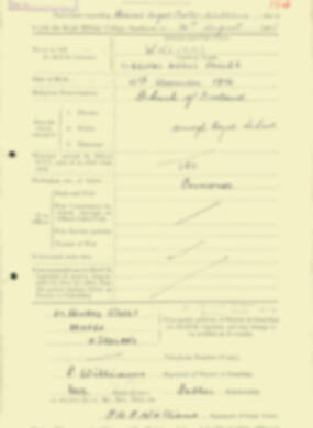 RMC Form 18A Personal Detail Sheets Aug 1935 Intake - page 220
