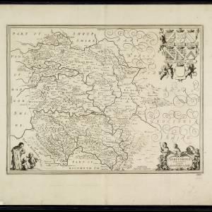 Herefordia Comitatus vernacule Herefordshire, 1652 - Jansson