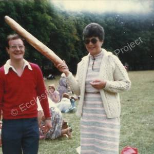 Ecclesfield French trip August 1982, James M Kay and Irene Hobson (nee Briers).