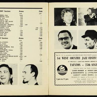 Chris Barber's Jazz Band with Ottilie Patterson, National Jazz Festival, Richmond - 1962 009