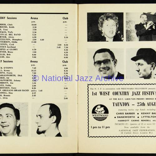 Chris Barber's Jazz Band with Ottilie Patterson, National Jazz Festival, Richmond - 1962 009