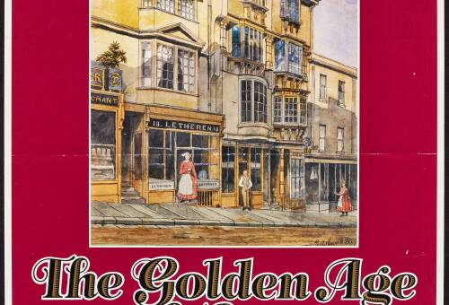 Exhibition poster for 'The Golden Age of Exeter 1620-1720' at the Royal Albert Memorial Museum, Exeter 1987