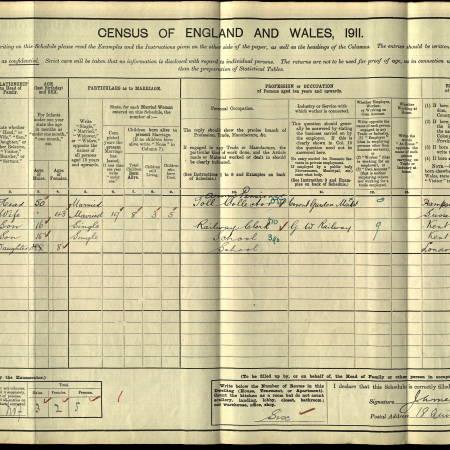 W Parr Census 1911 Quintin Avenue