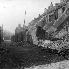 Bomb damage to Derby Terrace.