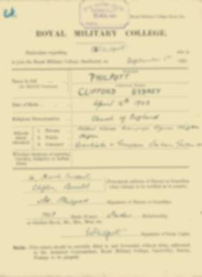 RMC Form 18A Personal Detail Sheets Feb & Sept 1922 Intake - page 112