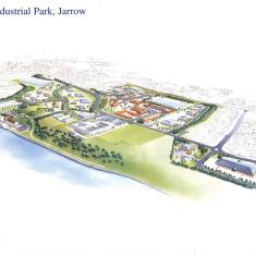 Artist's Impression of the Viking Industrial Park, Jarrow
