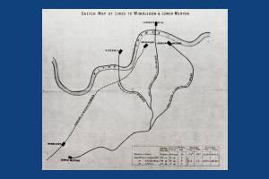 Merton Park Station, Lower Merton, Map of Lines from London