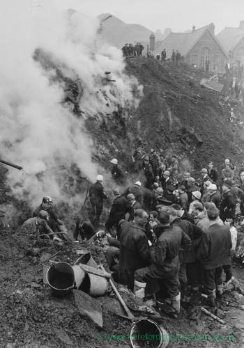 Aberfan Disaster 1966 - colliery spoil tip steaming