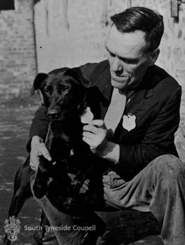 Sammy  Needham with Paddy the Dog