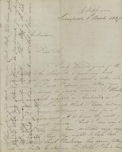 Stephenson 1 Mar 1827 p1