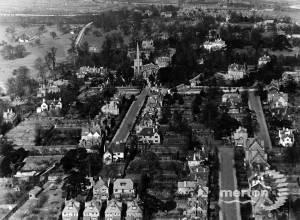 St. Mary's Church, Aerial view, Wimbledon