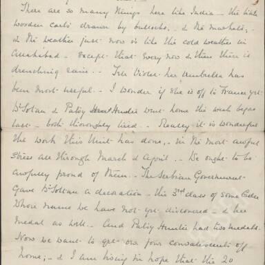 Elsie Inglis to Amy Inglis Simson, May 1915 (Part 5)