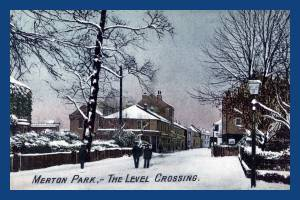 Kingston Road: Merton Park Level Crossing