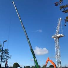 2019 07 July Erecting the Crane for the Construction of All Saints View