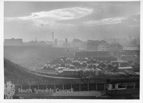 View of South Shields with the Old Town Hall In the Distance