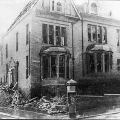 "Bomb Damage to ""Tyne View"" on Lawe Road"