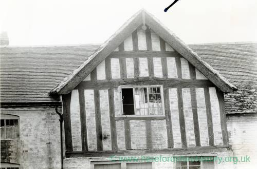 Barge Boards on a house in Bosbury, 1917