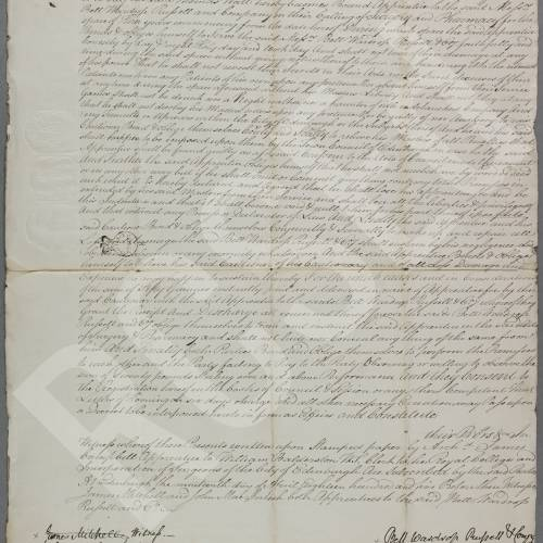 Indenture between Messers Bell, Wardrop,Russell and Co., surgeon apothecaries in Edinburgh and Thomas Wall, son of Thomas Wall, surgeon in the