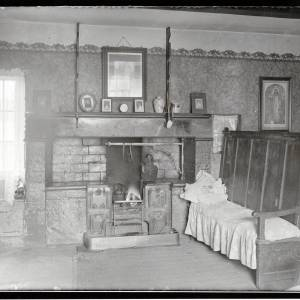 Fownhope, Caplar Farm, kitchen, 1934