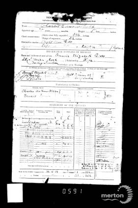 Service Record for Charles Edward Gibbs