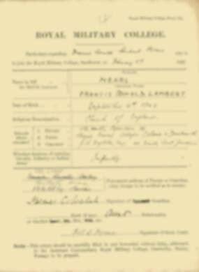RMC Form 18A Personal Detail Sheets Feb & Sept 1922 Intake - page 97