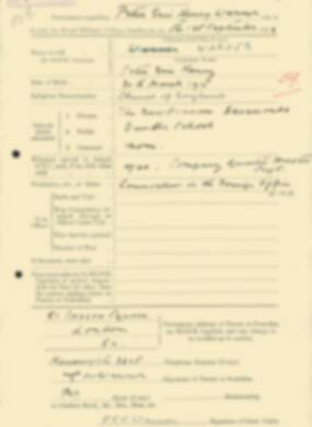 RMC Form 18A Personal Detail Sheets Feb & Sept 1933 Intake - page 303