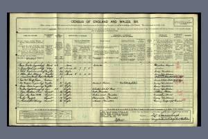 1911 Census - Woodgate House, Cambridge Road, Wimbledon